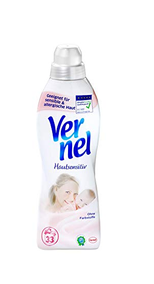 Vernel Sensitive Concentrated Fabric Softener- 33 WL / 1 L 1