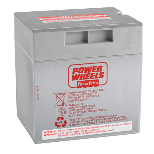 Power Wheels® 12-Volt Rechargeable Battery - Grey 1