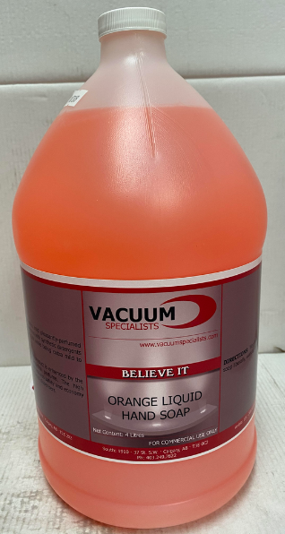 Vacuum Specialists Orange Liquid Hand Soap Cleaner - 1 Gal 1