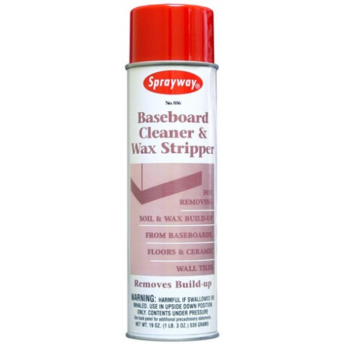 Sprayway® Baseboard Cleaner & Wax Stripper Spray- 19oz 1