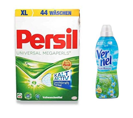Persil MEGAPERLS Universal 45 WL / 3.33 kg  & Vernel Fresh Morning Combo 1