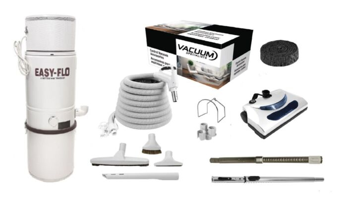 Easy-Flo 1500 Central Vacuum with PN11 Kit Package 1