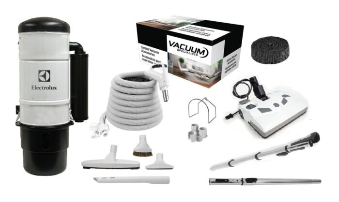 Electrolux QC600 Central Vacuum with Lindhaus Kit Package 1