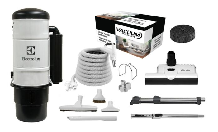 Electrolux QC600 Central Vacuum with Sebo ET-1 Kit Package 1