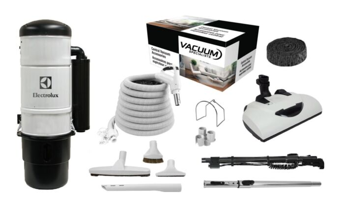 Electrolux QC600 Central Vacuum with Wessel Werk Kit Package 1